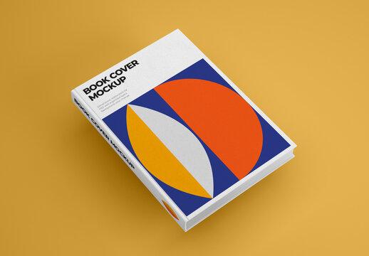 Vertical Book Hardcover Mockup
