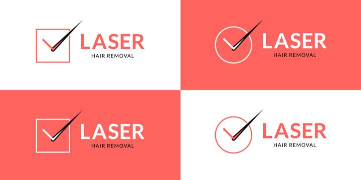 Elegant laser hair removal logo