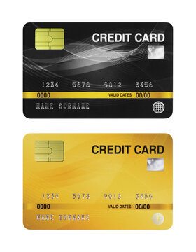 mockup credit card isolated on white