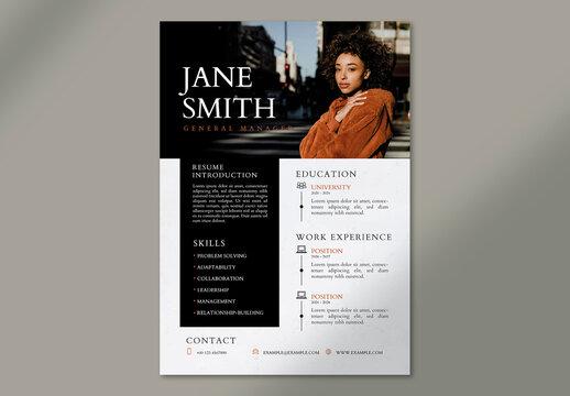 Creative Fashion Editable Resume Layout