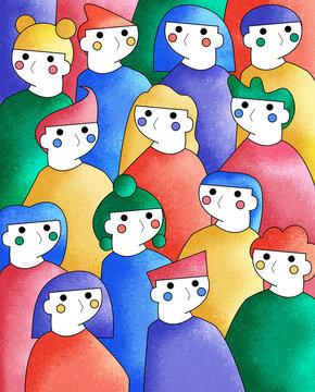 Grupo de personas LGTBQ juntas