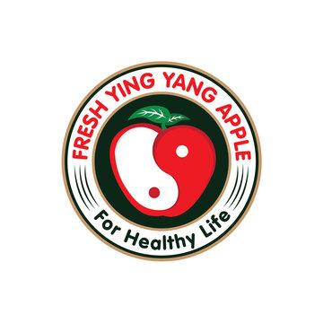 yingyang apple logo