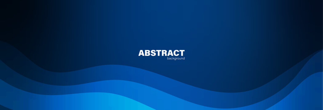 Abstract blue background and curve shape, background with copy space for design, vector.