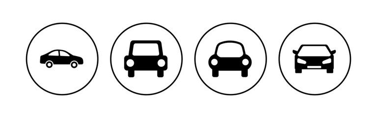 Fototapeta Car icon set. car vector icon. small sedan