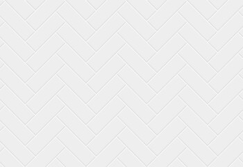White ceramic tile herringbone seamless pattern.  Parquet texture.