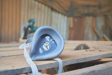 Dust mask for protect carpenter for work in wood industry