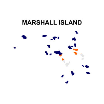 maps of Marshall Island icon vector sign symbol