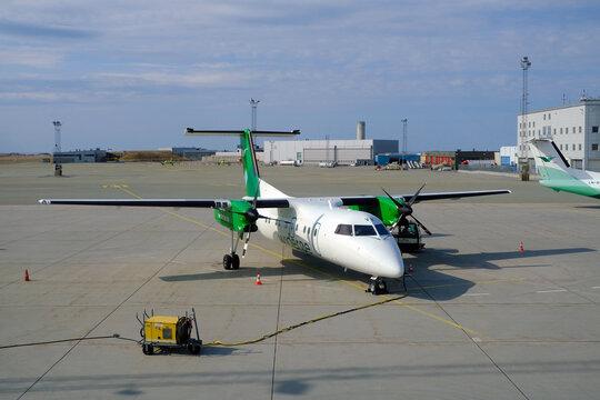 Wideroe Dash 8 103 at Bodo Airport, north Norway