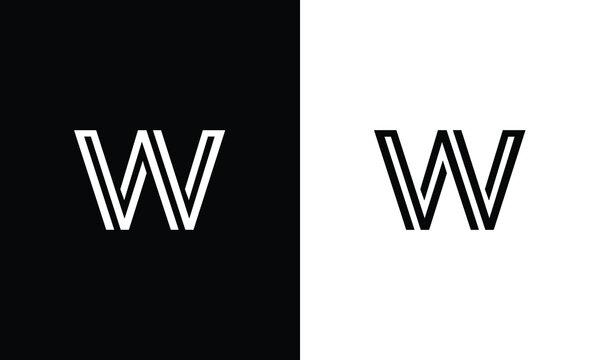 W,WW letters logo monogram