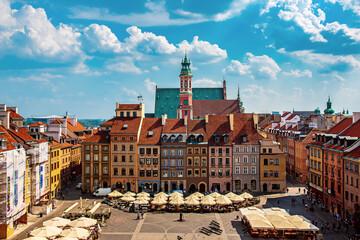 Fototapeta Market square in Warsaw