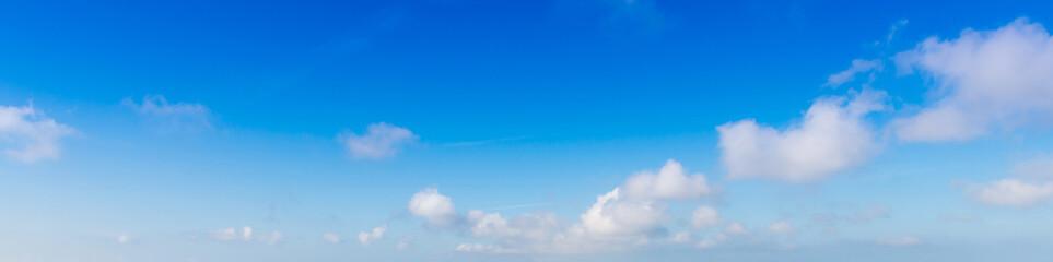 Fototapeta Summer sky, in Santorini, in Greece