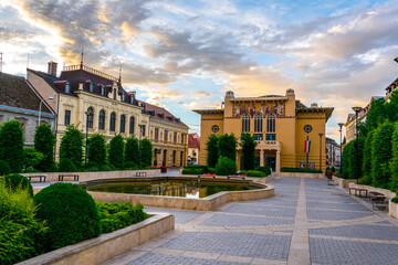 Fototapeta Petofi theater in the hungarian city Sopron