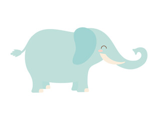 Fototapeta cute elephant icon