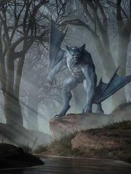 Batsquatch is a legendary creature that is alleged to inhabit the Pacific Northwest in the area of Mount St. Helens.