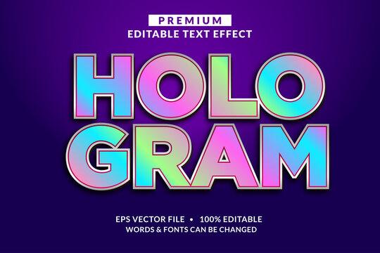 Hologram Modern Editable Text Effect Font style