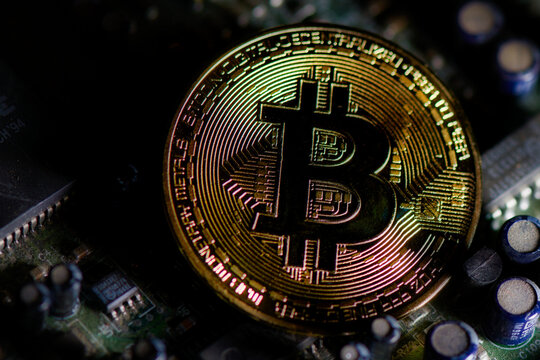 Bitcoin digital cryptovaluta. In the form of a coin