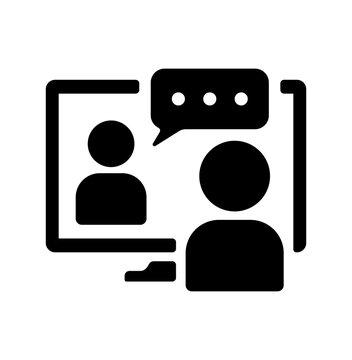 Video conference , webinar vector icon illustration