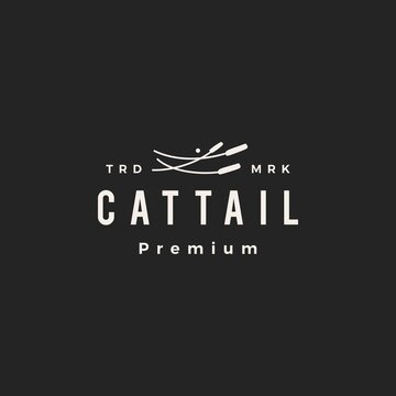 cattail hipster vintage logo vector icon illustration