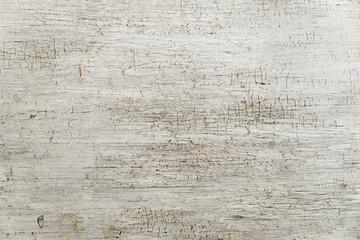 Fototapeta Weathered cracked paint background. Grunge white vintage texture pattern for overlaying artwork. obraz