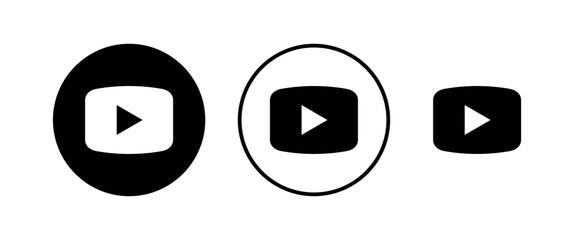 Fototapeta play Icons set. Play button vector icon. Video icon vector