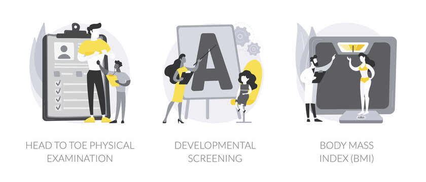 Health check up abstract concept vector illustrations.