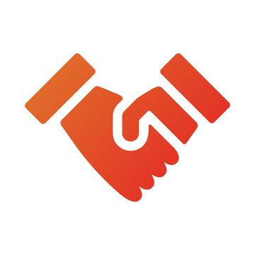 握手、合意、契約のアイコンイラスト (グラデーション塗りバージョン)