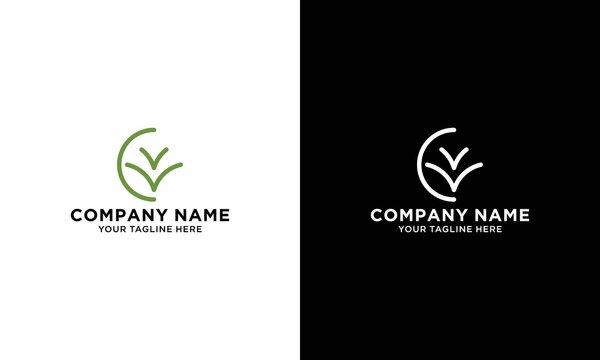 Lawn Care Logo Design Vector Template