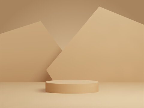 3D rendered podium for your product showcase. Vector 3d illustration.