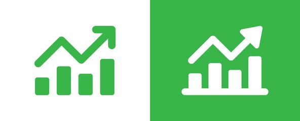 Fototapeta Profit growing chart icon vector illustration.