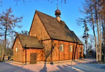 Fototapeta Drewniany kościół pw. św. Michała Archanioła w Szczurach,  Wielkopolska obraz