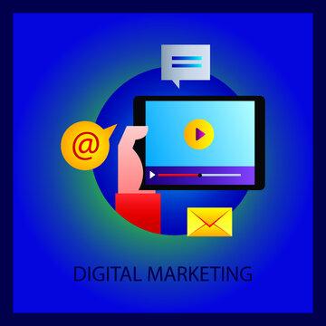 digital marketing technology network online.