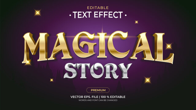 Text Effects, 3d Editable Text Style - Magical Story