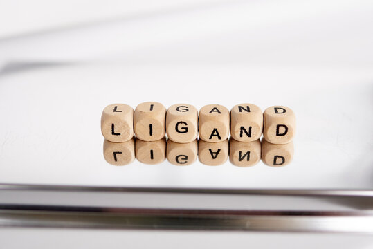 Word ligand made by wooden cubes