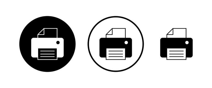 Printer icons set. print icon. Fax vector icon.