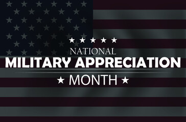 Fototapeta May is National Military Appreciation Month, background design.