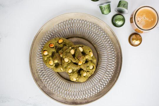 Matcha Macadamia Nut Cookies