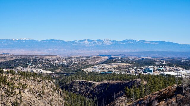 A View Overlooking Los Alamos, New Mexico