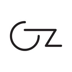 Fototapeta cz initial letter vector logo obraz