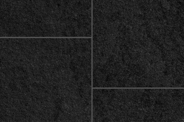 Fototapeta Black cement tile floor outside the building pattern and seamless background