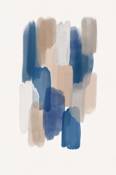 Abstract Art Brush Texture Watercolor Painting