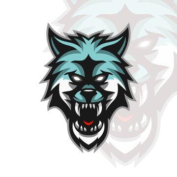 Modern Illustration Vector head winter wolves logo for Template