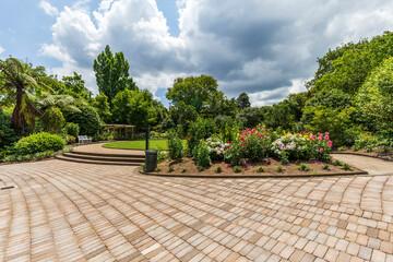 Fototapeta Beautiful day at Hamilton Gardens in New Zealand