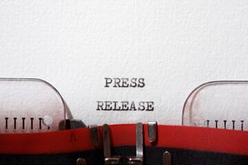 Fototapeta Press release action obraz