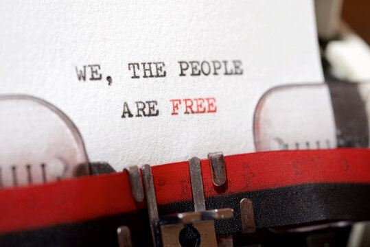 We, the people are free
