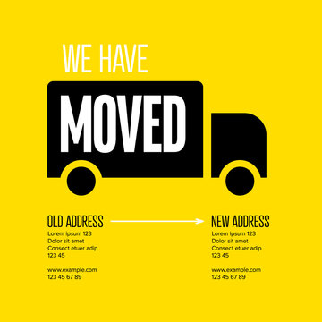 We are moving minimalistic flyer template
