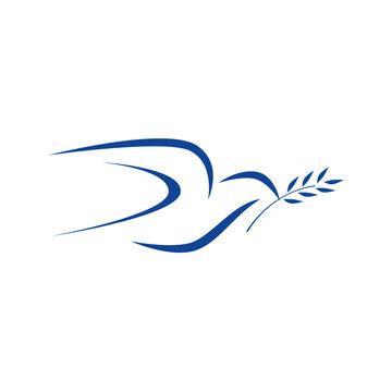 Pigeon Vector illustration. Bird Pattern minimalism  drawing artwork. Bed sheet print design .Download it now