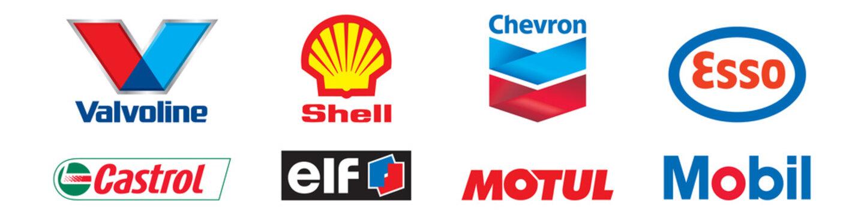 Best auto oil brend logo set. Editorial image. VINNITSIA, UKRAINE. APRIL 23, 2021.