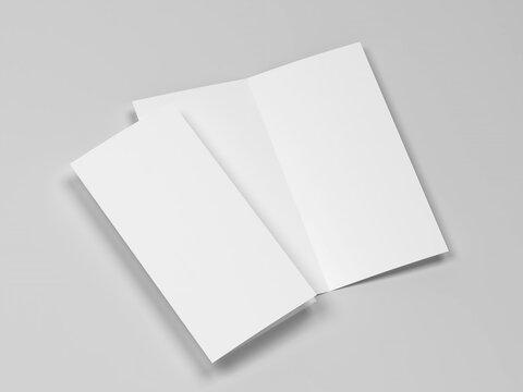Blank bifold brochure mockup