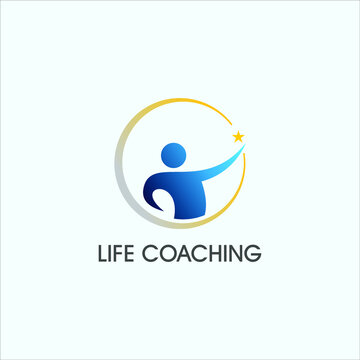simple life coaching logo design personality training and development support template