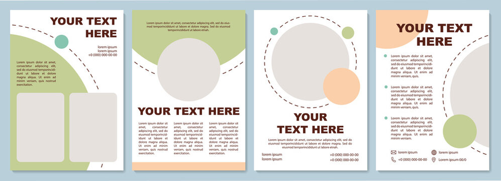 Business brochure template. Flyer, booklet, leaflet print, cover design with copy space. Space for inserting content. Vector layouts for magazines, annual reports, advertising posters